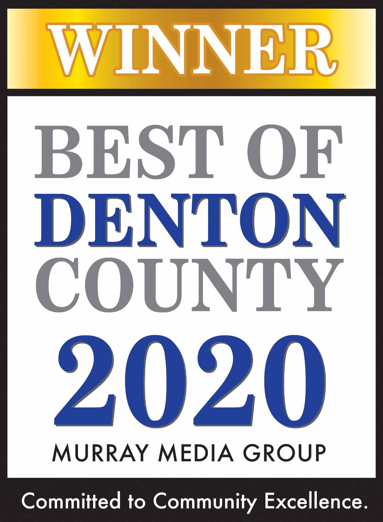 Best of Denton County Winner 2020